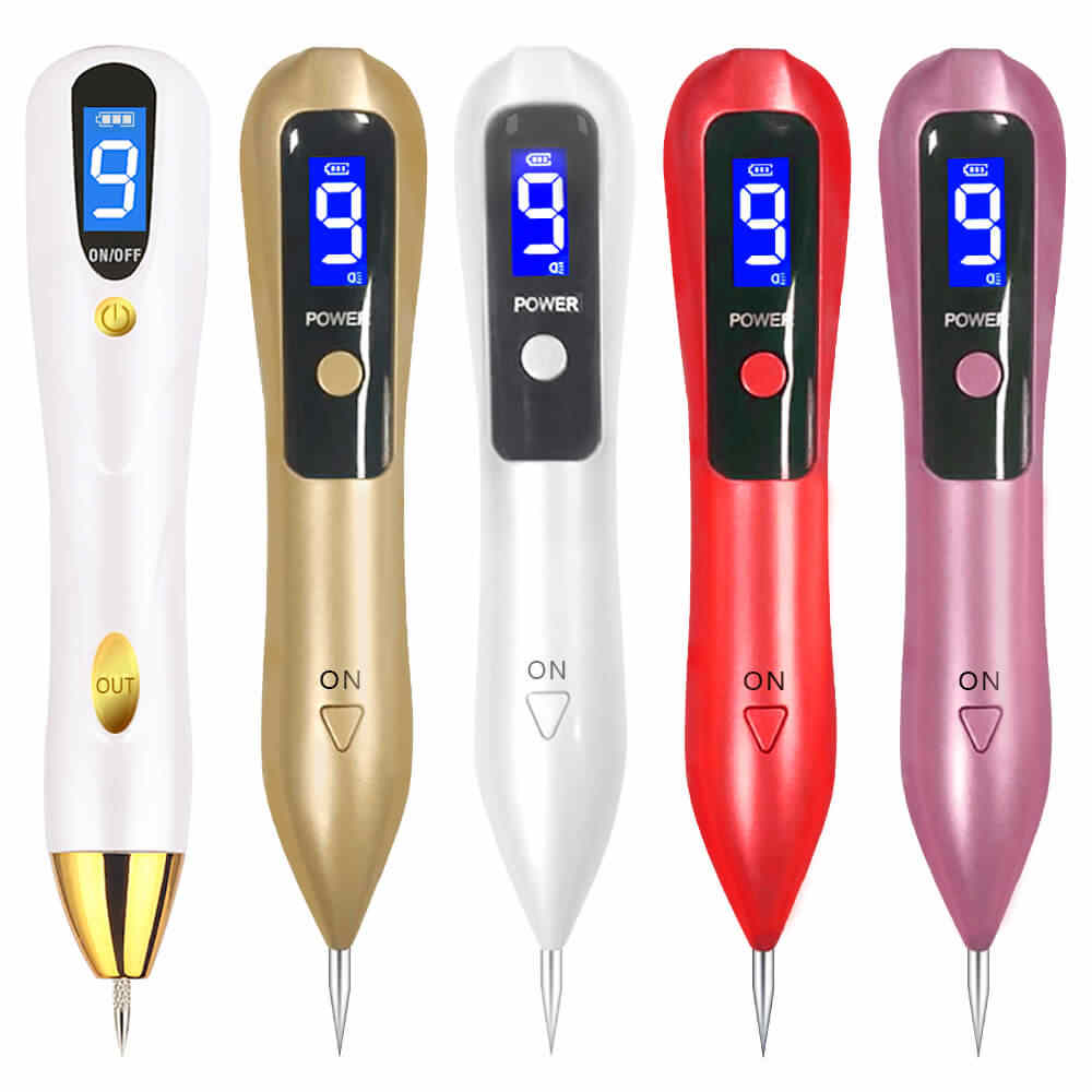 FDA เลเซอร์ Mole Removal Pen Dark Sweep Spot Remover เครื่องมือ LED LCD Body Point Wart Tag Tattoo Freckle Nevu face Beauty Care