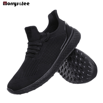 Light Weight Running ShoesFor Men 2020 Spring Autumn Black Comfortable Anti Slip Male Shoes Outdoor Walking Sneakers Men's Shoes youth casual loafers shoes black khaki lazy shoes male weight light half shoes comfortable anti slip men walking slippers shoes