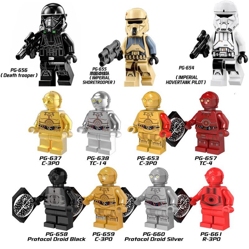 Star Wars Imperial Hovertank Pilot Imperial SHoreTrooper DeathTroope Mini Building Blocks Figure Legoingly Bricks Toys Kids Gift
