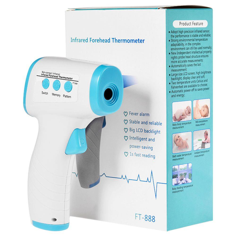 In Stock Digital Non-contact Infrared Forehead Thermometer,2 Temperature Units,LCD Backlight Display