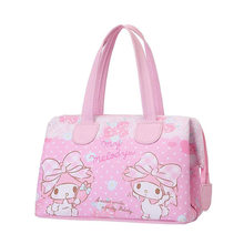 Cute Cartoon Little Twin Stars My Melody Anime PU Leather Thermal Cooler Bag Women Picnic Food Lunch Box Tote Handbag For Kids(China)