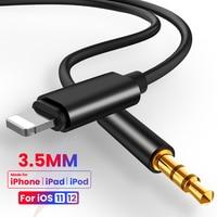 Cable auxiliar de Audio de 8 pines a 3,5mm, convertidor auxiliar de Audio para auriculares de coche, iPhone 7, 8, X, XS, MAX, XR