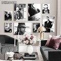 Черно-белый модный плакат с сексуальной женщиной, плакат на холсте со звездами из известного фильма, Скандинавская Художественная печать, М...