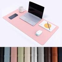 Alfombrilla de ratón grande portátil para videojuegos, estera de escritorio de cuero PU con bloqueo en los bordes, protectora para el hogar y la Oficina, estera de escritura para escritorio y ordenador portátil