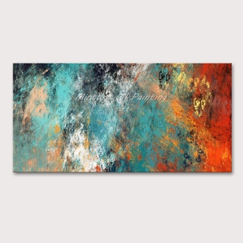 Mintura Wall Picture for Living Room Oil Paintings on Canvas Hand Painted Abstract Color Picture Hotel Decor Wall Art  No Framed