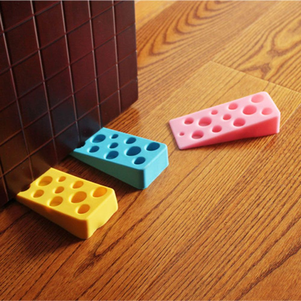 1 Pcs Cute Cartoon Door Stopper Silicone Doorstop Kids Baby Safety Home Decoration Accessories Random Color High Quality