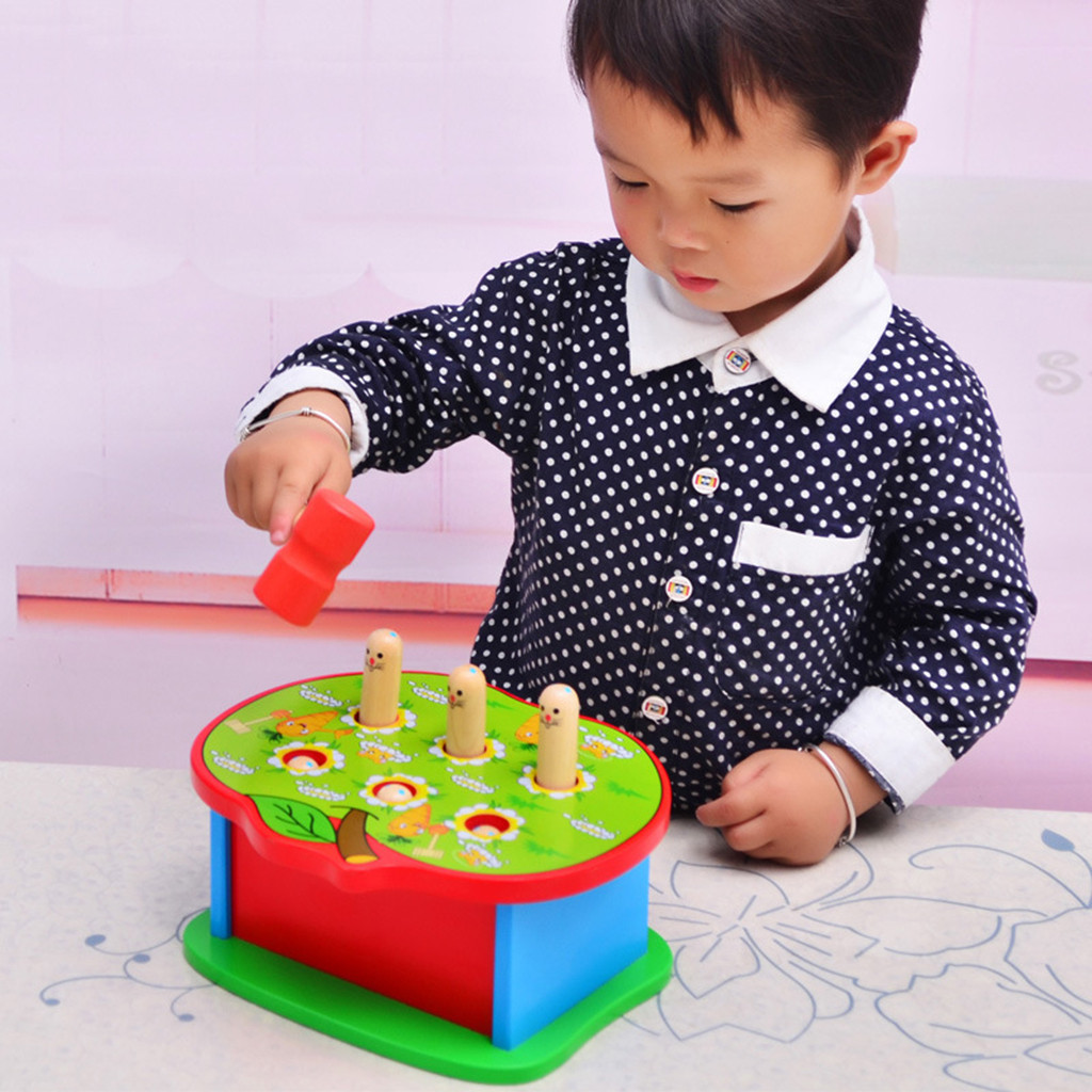 Education For Kids Fun Learning Toys For Children Deluxe Pounding Bench Wooden Toy With Mallet Learning Educational Toys W910