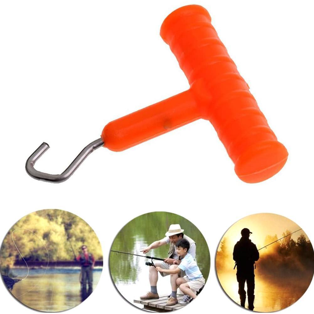 1pc ABS Grip Stainless Steel Smooth Knot Hook Carp Puller Rig Terminal Making Rig Tool Knot Accessories Fishing Fish Tackle M9I1