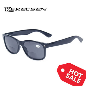 Image 2 - Bifocal Reading Glasses Grey Lens Fashion Men and Women Spring Hinge Plastic Presbyopia Glasses Outdoor fishing sunglasses