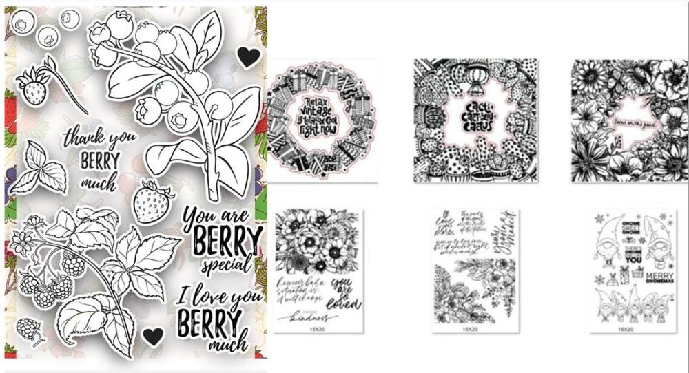 Flower Clear Silicone Stamp / Seal For DIY Scrapbooking / Album Decorative Clear Stamp Sheets A232