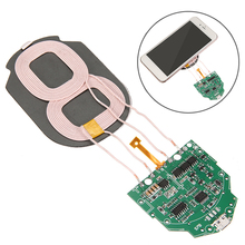 High Quality 10W Qi Fast Charging Wireless Charger PCBA Circuit Board With Dual 2 Coil Qi wireless charging standard Accessories 10w high power fast charging 3 coil diy wireless charging module pcba qi mobile wireless charging board