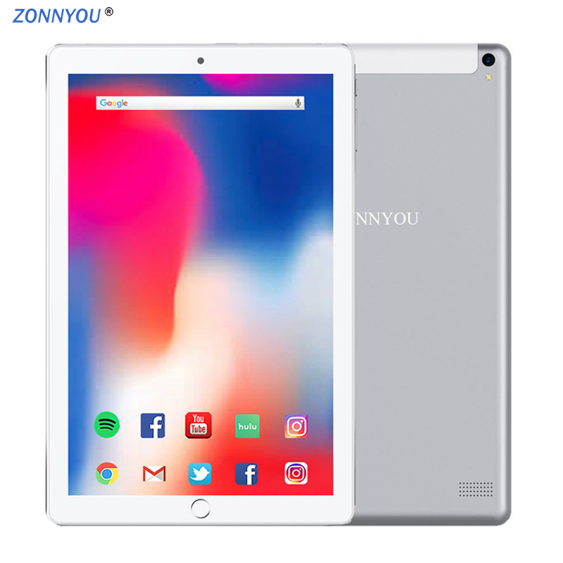 2.5D 10.1 Inch Tablet PC New System Android 8.0 3G Phone Call 4GB+64GB Octa Core Dual SIM Support GPS Wi-Fi Bluetooth PC
