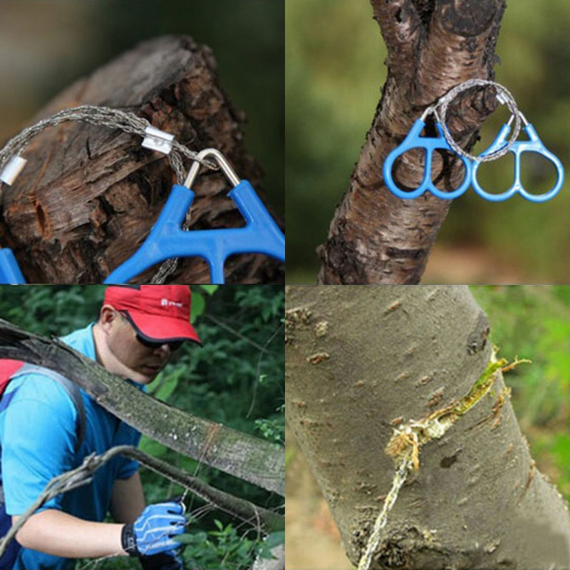 Useful Outdoor Plastic Steel Wire Saw Ring Scroll Travel Camping Emergency Survival Gear Climbing Survival Hand Toolve