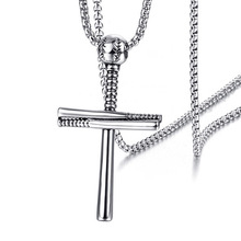 cross-border baseball cross necklace in Europe and the 2019 stainless steel pendant mens accessories wholesale