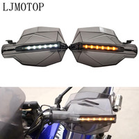 Motorcycle Hand Guard Handle Protector HandGuards with LED Signal Light For SUZUKI SV1000/S TL1000 R/S DL650/V STROM GSR600