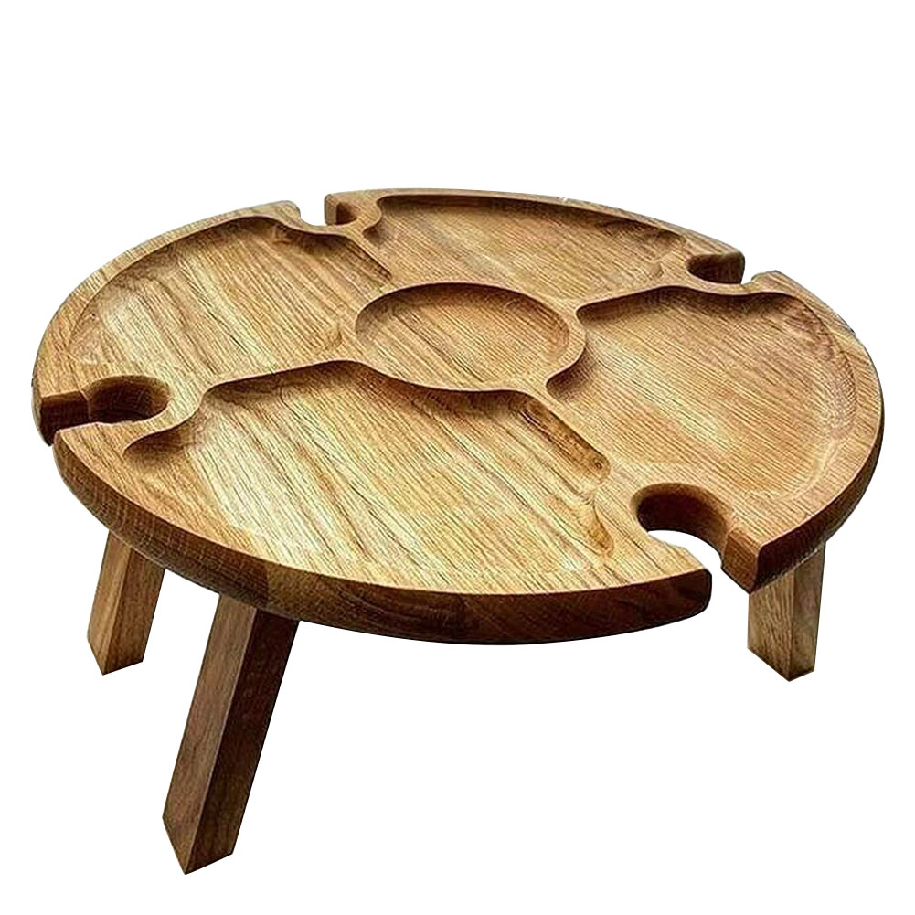 Wooden Picnic Table Camping Mini Portable Foldable Table For Outdoor Picnic Barbecue Tours Tableware Ultra Light Folding Desk