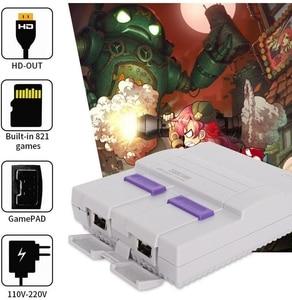 Image 4 - Consoles de jeux vidéo HDMI TV consoles de jeux SNES 8 bits avec 821 consoles de jeux SFC pour jeux SNES double lecteur de manette pal et NTSC