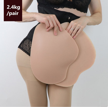2.4kg/Pair Crossdresser Silicone Hip Pads for Shemale Butt Lifter Removable Enhancing Women Hip Enhancer Beautify Fake Ass