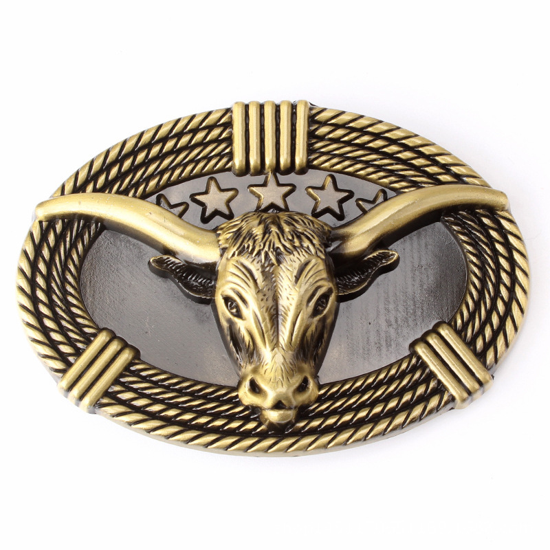Bull Head Belt Buckle Handmade Homemade Belt Accessories Waistband DIY Western Cowboy Rock Style K51
