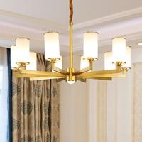 Modern Luxury Grass Gold/Black Copper American Chandelier Lighting LED For Living/Dining Room Lamp Hanging Indoor Lights Fixture