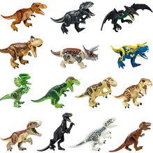 Building Blocks Dinosaur Figures Bricks Tyrannosaurus Rex Dino Toys For Children Dinosaurios Christmas цена в Москве и Питере
