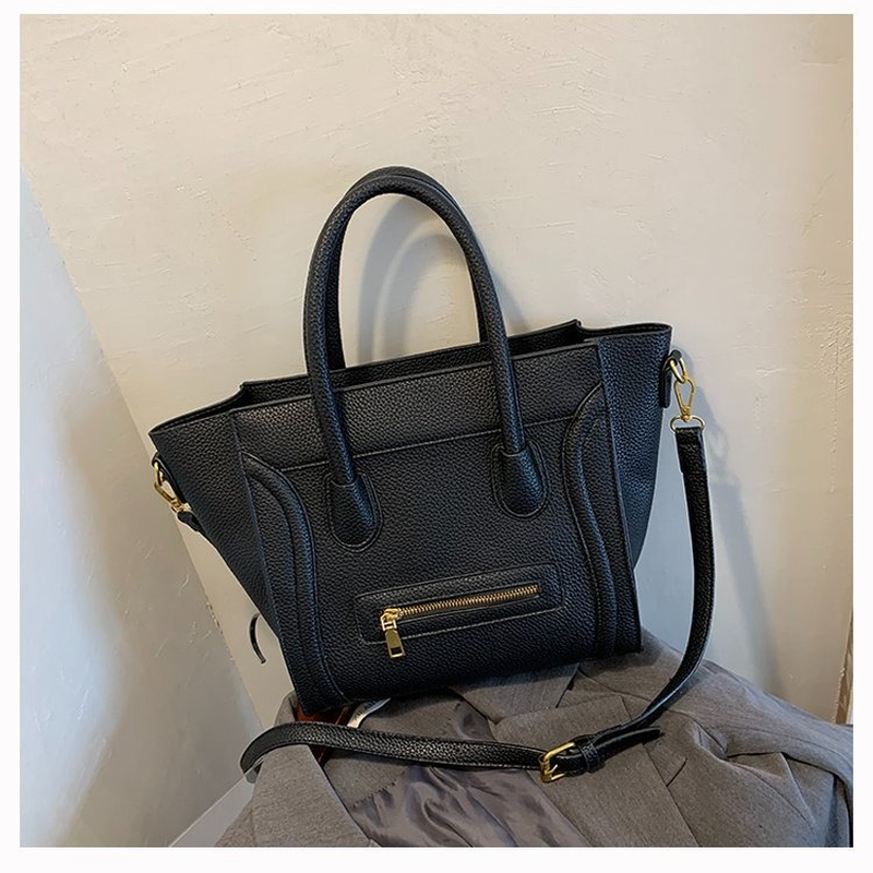 Women Leather Bag for Women 2021 New Fashion Casual Tote Simple Top-handle Handbag Women Bags Ladies Wing Shape Tote Bag