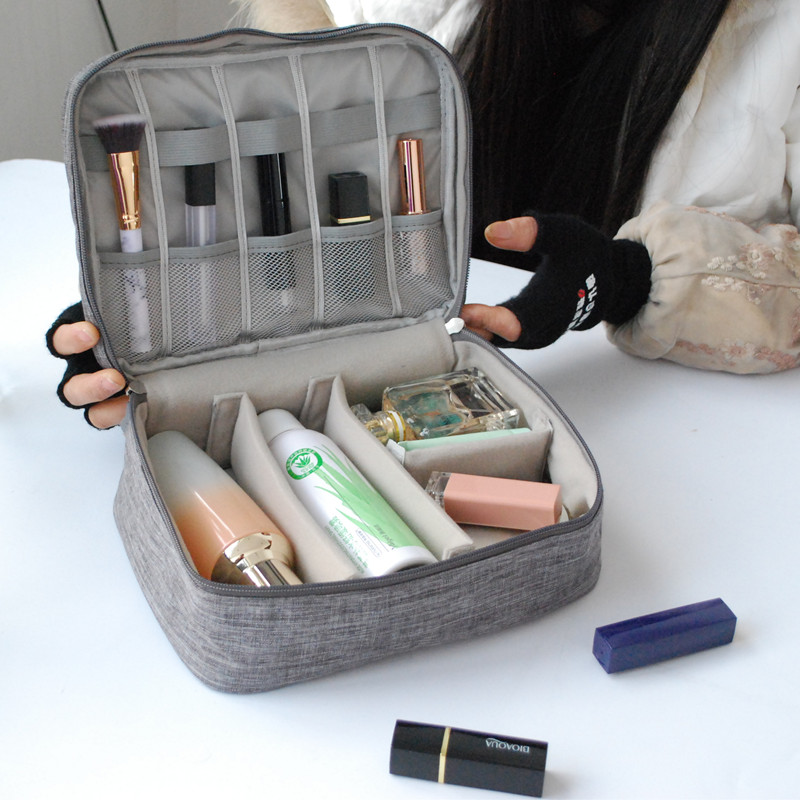 Travel Wash Makeup Storage Bag Waterproof Pouch Cosmetic Lotion Lipstick Organizer Charging Line Digital Collect Kit Accessories