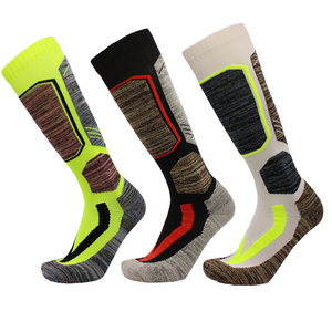 Image 2 - High Quality Cotton Thick Cushion Knee High Ski Socks Winter Sports Snowboarding Skiing Socks Warm Thermal socks