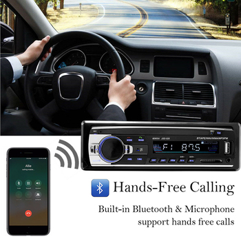 Car MP3 Multimedia Player Bluetooth Autoradio Car Stereo Radio FM Aux Input Receiver SD USB JSD-520 12V In-dash 1 din image