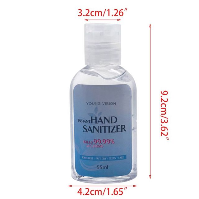 55ml Effective Antibacterial Instant Hand Sanitizer Gel Wash Free Quick-Drying Refreshing Disposable Sterilization Disinfectant 4