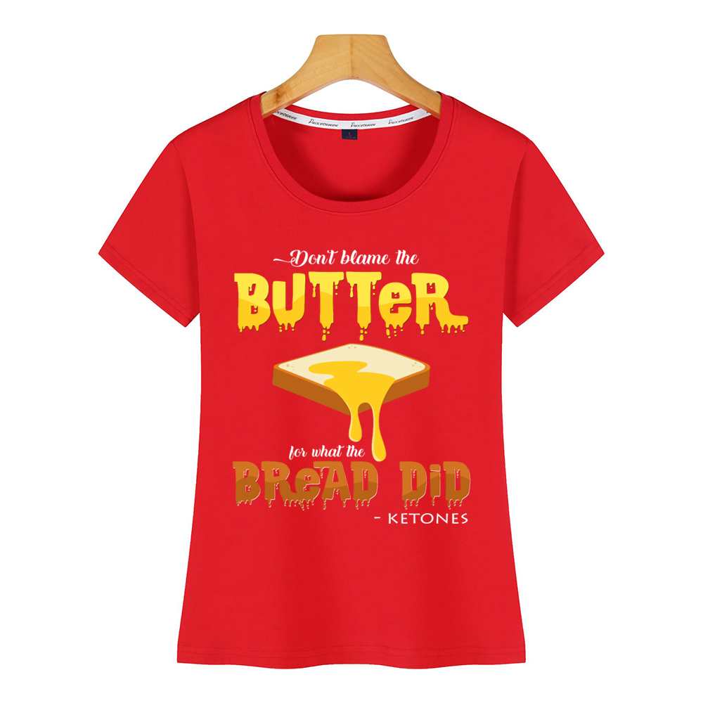 Tops T Shirt Women keto Casual Black Print Female Tshirt