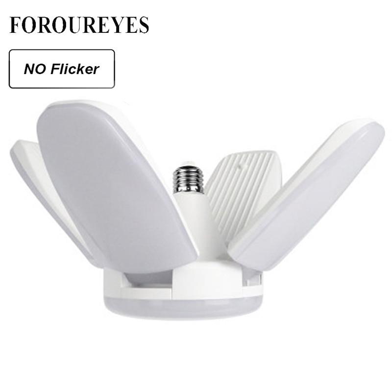 Die Neue 60W Faltbare Fan Klinge LED Anhänger Lichter Kein Flimmern B22 E27 Led-lampe 220V 360 Grad winkel Einstellbar Decke Lampe