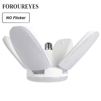 The New 60W Foldable Fan Blade LED Pendant Lights No Flicker B22 E27 LED Bulb 220V 360 Degrees Angle Adjustable Ceiling Lamp