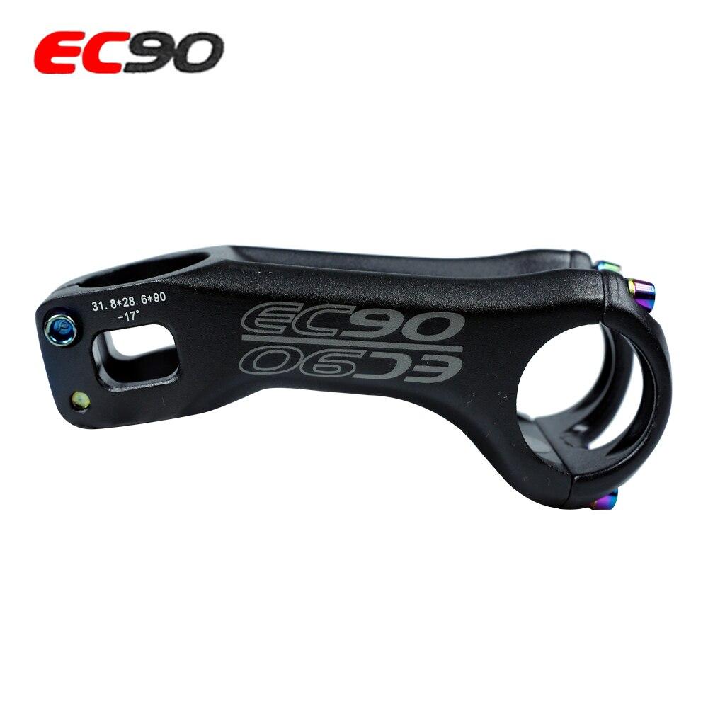 EC90 CNC, tallo de bicicleta de carretera de aleación de aluminio/70MM, tallo de bicicleta de montaña/90MM 31,8x28,6 MM XC MTB AM, piezas del eje de la bicicleta