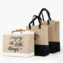 Women Linen Tote Large Capacity Female Casual Shoulder Bag Daily Reusable Shopping Bag Fresh Splicing Letters Foldable Handbag(China)