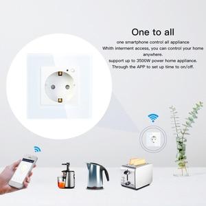 Image 2 - EU Wifi Thông Minh Ổ Điện 16A Ổ Cắm Kính Cường Lực Gemany Cuộc Sống Thông Minh/Tuya Điều Khiển Từ Xa Có Tác Dụng Với Amazon Echo alexa Google Home