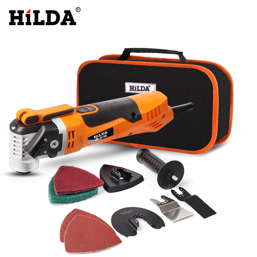 HILDA Oscillating Multi-Tools Renovator Tool Oscillating Trimmer Home Trimmer Woodworking Tools Multi-Function Electric Saw