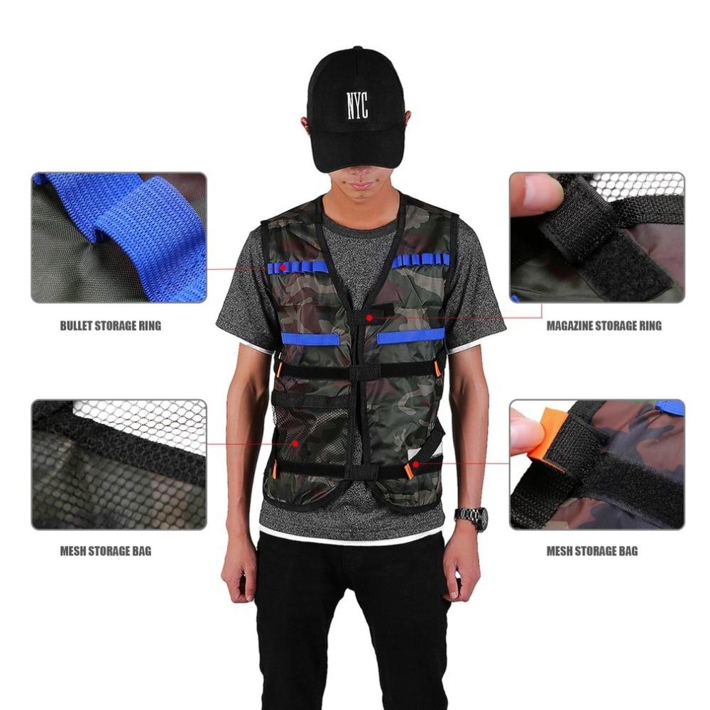 LESHP Tactical Vest Nerf Vest For Nerf N-Strike Elite Games Outdoor Hunting Adjustable