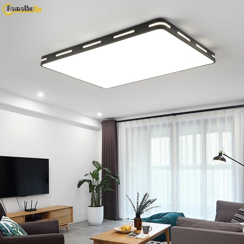 Прямоугольный потолочный светильник, яркий квадратный потолочный светильник, светодиодный потолочный светильник, настенный светильник