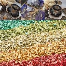 20g métal écrasé pierre effet remplissage bricolage Table décoration gâteau fruits caboteur remplissage décoratif cristal pour résine époxy moules