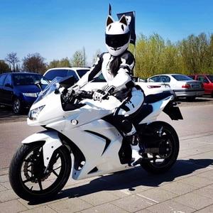 Image 5 - NITRINOS Motorcycle Helmet Women Personality Moto Capacete Black Helmet Full Face Moto Helmet Fashion Motorbike Helmet