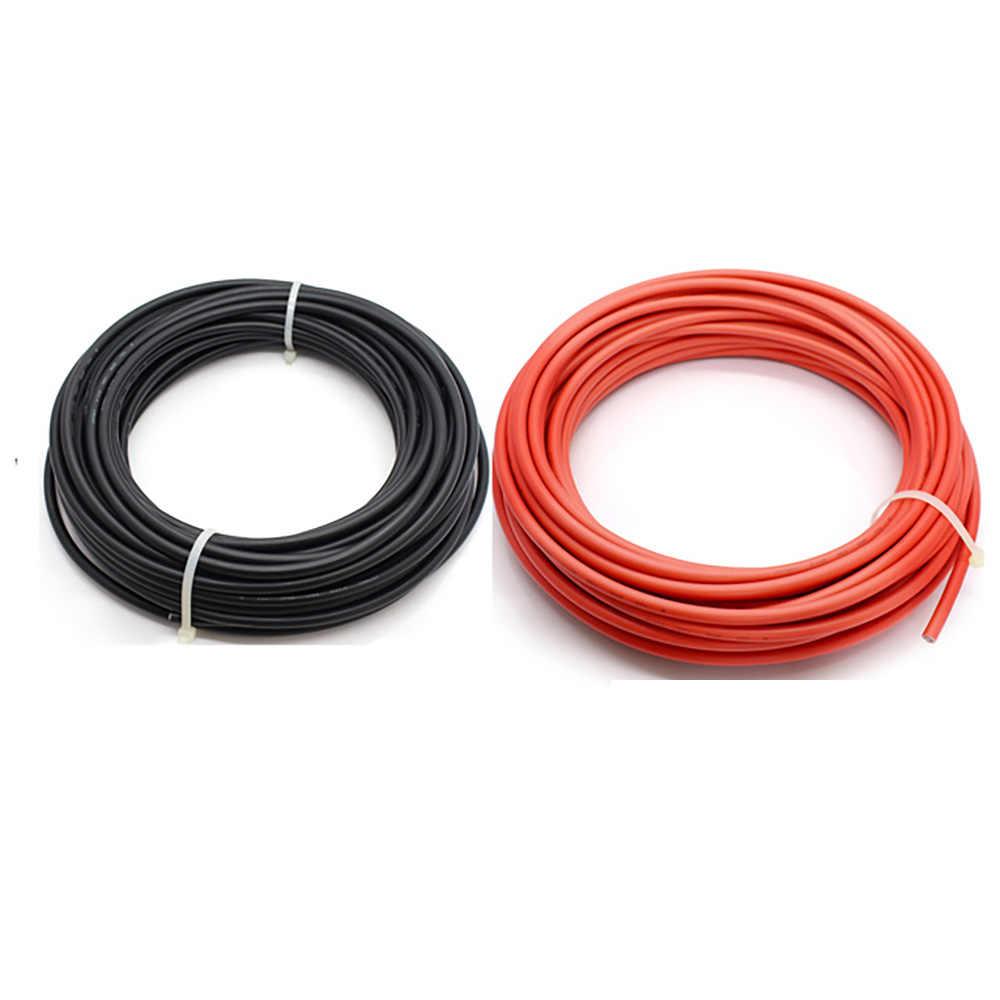 黒 + 赤パネル pv 1 メートル/2 メートル/3 メートル/4 メートル/5 メートルのケーブル 6.0 ミリメートル/10AWG ソーラーモジュールコネクタソーラー電源線ケーブル tuv