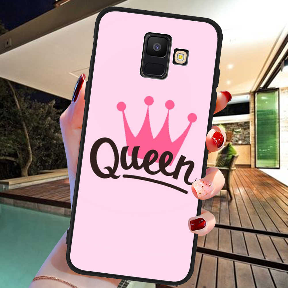 Roi reine marbre de luxe Pour Samsung Galaxy A9 A8 A7 A6 A5 A3 J3 J4 J5 J6 J8 Plus 2017 2018 M30 A40S A10 A20E housse de téléphone