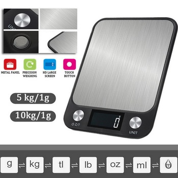 LCD Display 10kg / 1g Multi-function Digital Food Kitchen Scale Stainless Steel Weighing Food Scale Cooking Tools Balance 10000g x 1g digital mini food diet kitchen scale balance weight scale led electronic cooking scale measure tools