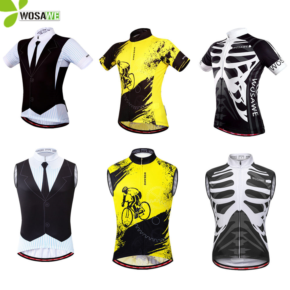WOSAWE Summer Unisex Cycling Shorts Tight Breathable Anti-Sweat Bicycle Bottom Wearing Downhill Road Bike MTB Cycle Shorts Men