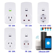 цена на Smart Plug 10A/16A Wifi Wireless Smart Power Monitor EU AU UK US Plug Socket Outlet Switch For ECHO For ALEXA For GOOGLE Socket