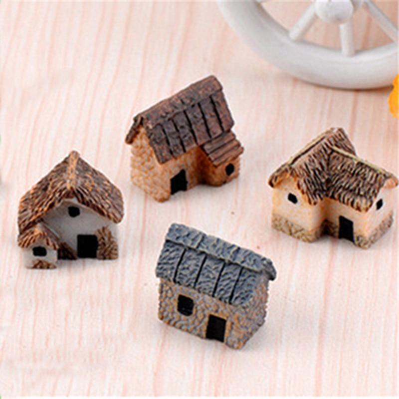 4 штуки ZOCDOU, милый домик для дома, маленькая статуя, аксессуары для украшения дома, миниатюрные Детские декоративные фигурки