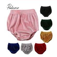 Pudcoco/Новинка, детские бархатные штаны для маленьких девочек, повседневные Мягкие Шорты-памперсы, трусики PP, трусики PP, шорты