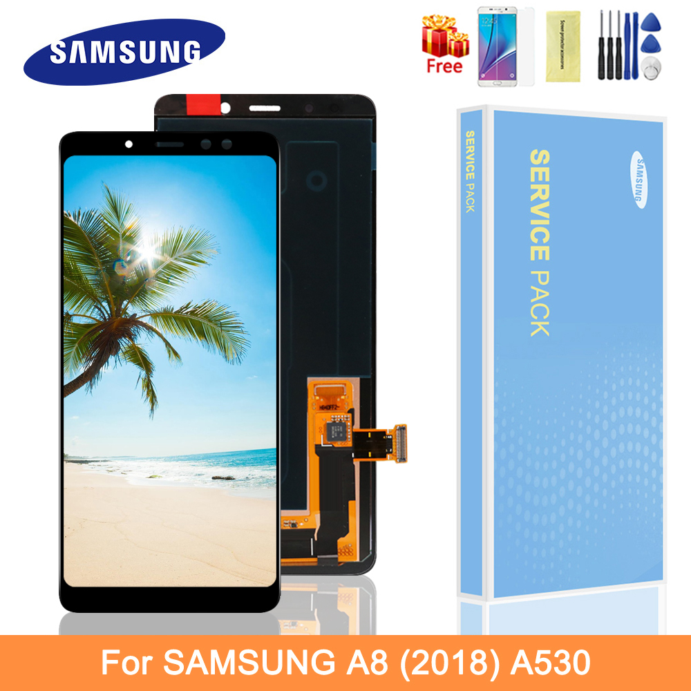 5.6'' Original Samsung A530 Lcd Display Samsung A8 2018 A530 A530F/DS LCD Display Touch Screen Digitizer Assembly Replacement