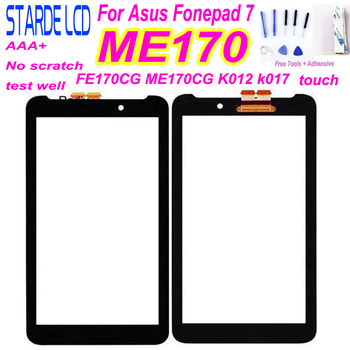 For Asus Fonepad 7 ME170 FE170CG ME170CG K012 k017 Digitizer Touch Screen Panel Sensor Glass Replacement without LCD Display Too 7 0 black touch screen sensor digitizer glass panel replacement for asus fonepad 7 fe375cg fe7530cxg me375 free shipping